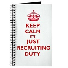 Keep Calm it's Just Recruiting Duty Journal