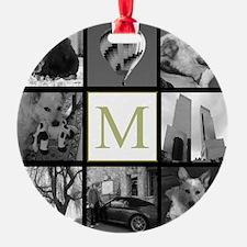 Big Photo Block and Monogram Ornament