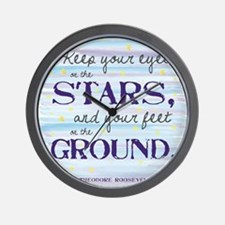 Keep Your Eyes On the Stars Wall Clock