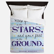 Keep Your Eyes On The Stars Queen Duvet