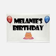 Melanie's Birthday Rectangle Magnet