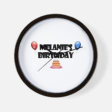 Melanie's Birthday Wall Clock