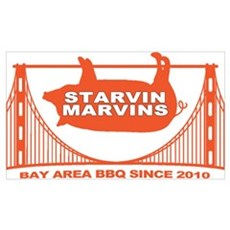 Starvin Marvins Bay Area BBQ Poster