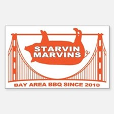Starvin Marvins Bay Area BBQ Decal