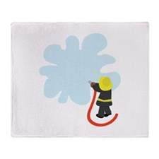 Firefighter Splash Throw Blanket