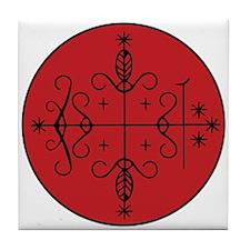 Papa Legba Veve Tile Coaster