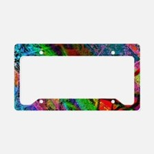 Colorful allover Graffiti License Plate Holder