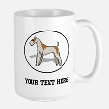 Custom Wire Fox Terrier Mugs