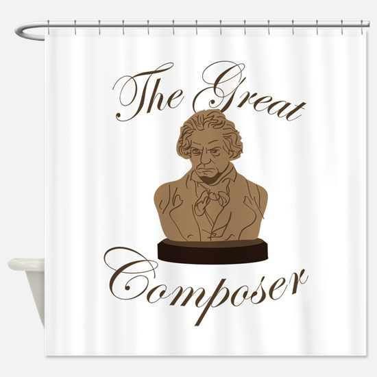 Great Composer Shower Curtain