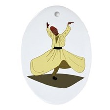 Whirling Dervish Ornament (Oval)