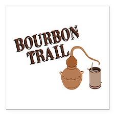 "Bourbon Trail Square Car Magnet 3"" x 3"""