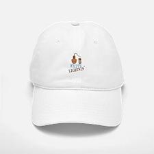 white Lightnin Baseball Baseball Baseball Cap