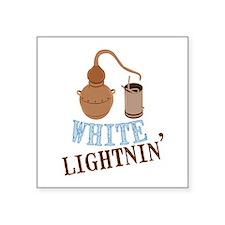 white Lightnin Sticker