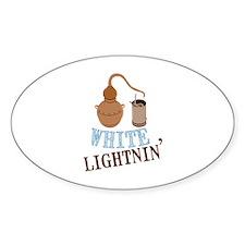 white Lightnin Decal