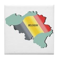 Belgium Flag and Country Tile Coaster