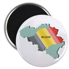 Belgium Flag and Country Magnet
