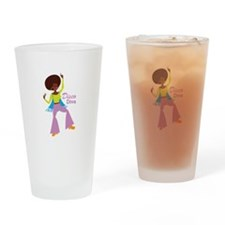 Disco Diva Drinking Glass