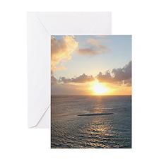 Aruba Sunset Greeting Cards