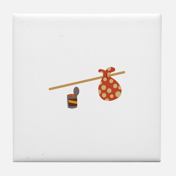 Bindle & Beans Tile Coaster