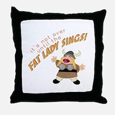 Opera Singer Throw Pillow
