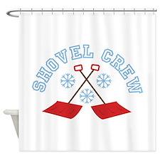 Shovel Crew Shower Curtain