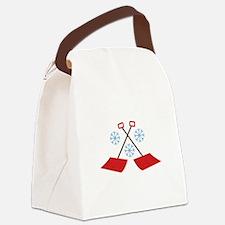 Snowflake Shovels Canvas Lunch Bag