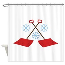 Snowflake Shovels Shower Curtain