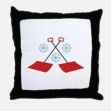 Snowflake Shovels Throw Pillow