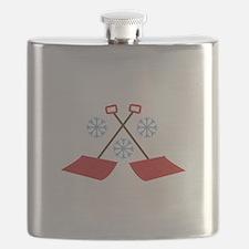 Snowflake Shovels Flask
