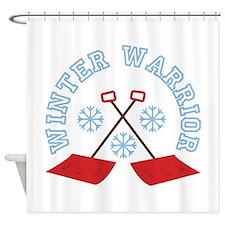 Winter Warrior Shower Curtain