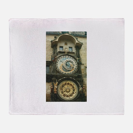 Astronomical Clock Prague Throw Blanket