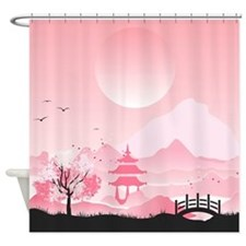 Japanese Springtime Shower Curtain