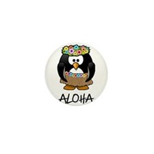 Aloha Penguin Mini Button (10 pack)
