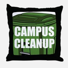 Campus Cleanup Throw Pillow