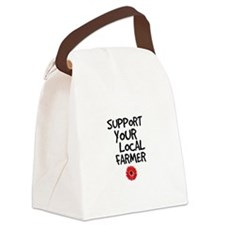 Support Local Farmer Canvas Lunch Bag