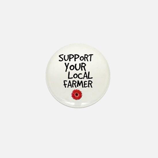 Support Local Farmer Mini Button