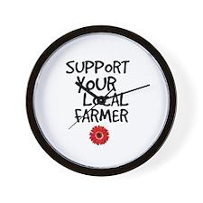 Support Local Farmer Wall Clock