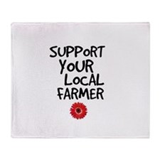 Support Local Farmer Throw Blanket