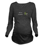 Wine Junkie Long Sleeve Maternity T-Shirt