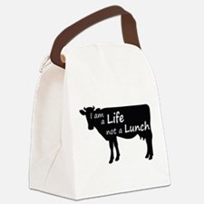 Funny Animal Canvas Lunch Bag