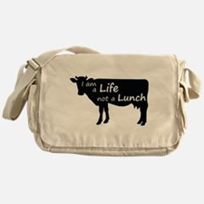 Life Not Lunch - Cow Messenger Bag
