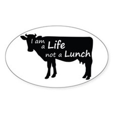 Life Not Lunch - Cow Decal