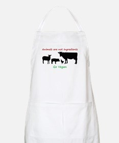 Animals are not ingredients: Go Vegan Apron