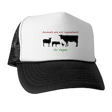 Animals are not ingredients: Go Vegan Trucker Hat