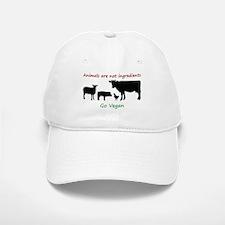 Animals are not ingredients: Go Vegan Baseball Baseball Baseball Cap