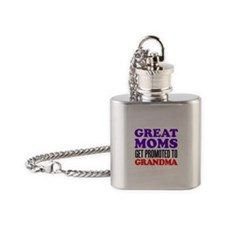 Great Moms Promoted Grandma Flask Necklace