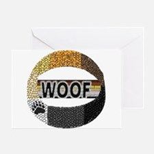 WOOF RING Greeting Card