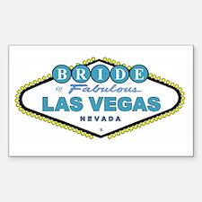 NEW T Blue Las Vegas BRIDE Rectangle Decal