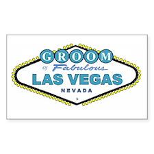 NEW T Blue Las Vegas GROOM Rectangle Decal
