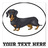 Animals dachshund Square Car Magnets
